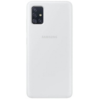 Накладка Silicone Cover для Samsung A515 Silky&Soft Touch White