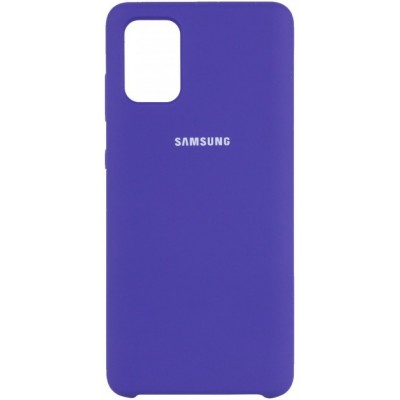 Накладка Silicone Cover для Samsung A715 Silky&Soft Touch Purple