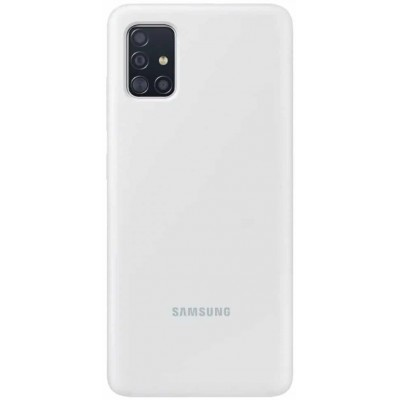 Накладка Silicone Cover для Samsung A315 (A31) Silky&Soft Touch White