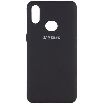 Накладка Silicone Cover для Samsung A115M115 Silky&Soft Touch Black