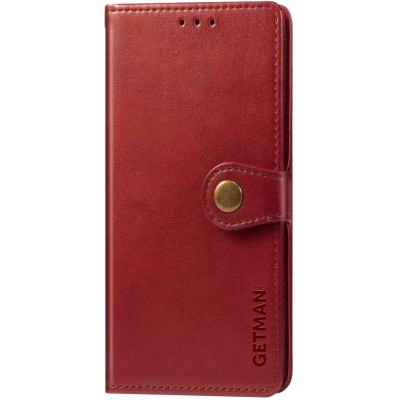Чохол-книжка GETMAN Gallant (PU) для Xiaomi Redmi Note 9 Red