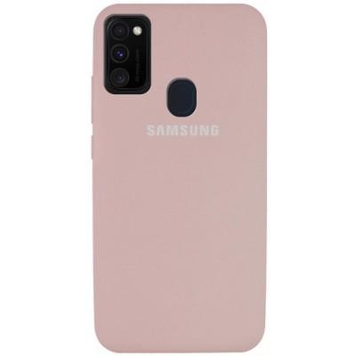 Накладка Silicone Cover Full для Samsung M315 (M31) Pink Sand