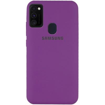 Накладка Silicone Cover Full для Samsung M307 (M30s)M215 (M21) Grape