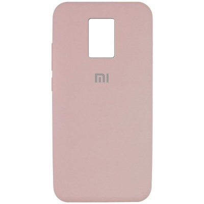 Накладка Silicone Cover Full для Xiaomi Redmi Note 9 Pink Sand