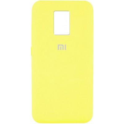 Накладка Silicone Cover Full для Xiaomi Redmi Note 9 Neon Yellow