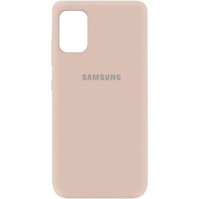 Накладка Silicone Cover Full для Samsung A315 (A31) Pink Sand