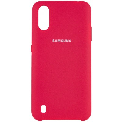 Накладка Silicone Cover для Samsung A015 (A01 2020) Silky&Soft Touch Rose Red