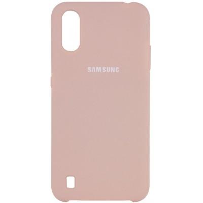 Накладка Silicone Cover Full для Samsung A015 (A01) Pink Sand