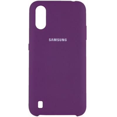 Накладка Silicone Cover Full для Samsung A015 (A01) Violet