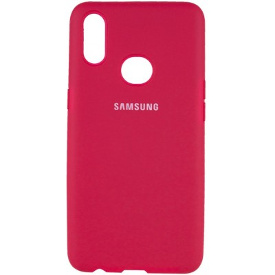Накладка Silicone Cover Full (AA) для Samsung A107 (A10s) Hot Pink