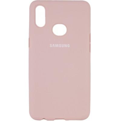 Накладка Silicone Cover Full (AA) для Samsung A107 (A10s) Pink Sand