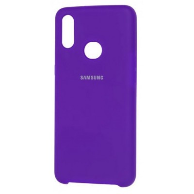 Накладка Silicone Cover Full для Samsung A107 (A10s) Violet