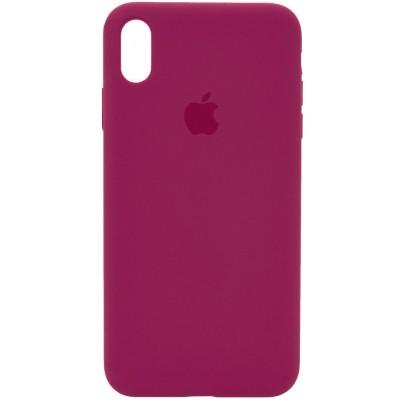 Накладка Silicone Case Full для iPhone XS Max Rose Red