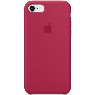 Накладка Silicone Case Full для iPhone 78 Plus Rose Red
