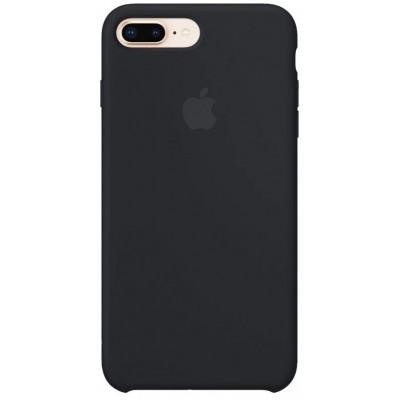 Накладка Silicone Case Full для iPhone 78 Plus Black