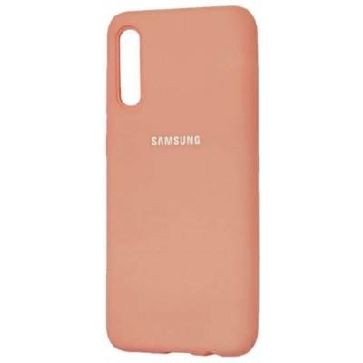Накладка Silicone Case Full для Samsung A115M115 Pink Sand