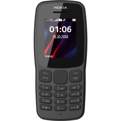 Nokia 106 New Dark Grey