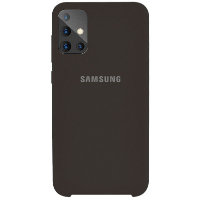Накладка Silicone Cover для Samsung A715 Silky&Soft Touch Black