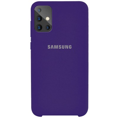 Накладка Silicone Cover для Samsung A515 Silky&Soft Touch Purple