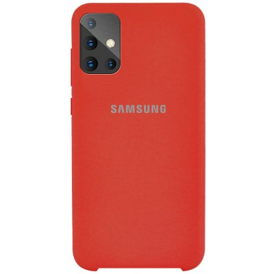 Накладка Silicone Cover для Samsung A515 Silky&Soft Touch Red
