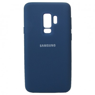 Накладка Silicon Cover для Samsung G965 (S9 Plus) Silky&Soft Touch Blue