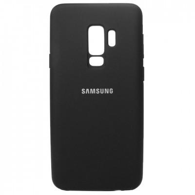 Накладка  Silicon Cover для Samsung G965 (S9 Plus) Silky&Soft Touch Black