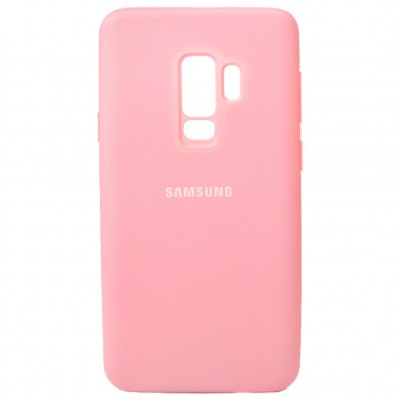 Накладка Silicon Cover для Samsung G965 (S9 Plus) Silky&Soft Touch Pink