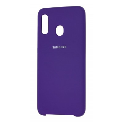 Накладка Full Silicone Cover для Samsung A305/A205 Silky&Soft Touch Violet