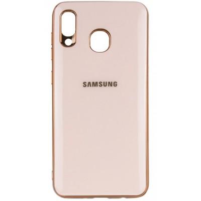 Накладка Glossy Logo TPU для Samsung A305/A205 Gold