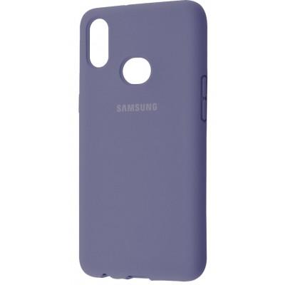 Накладка Silicone Cover для Samsung A305/A205 Silky&Soft Touch Lavender Grey