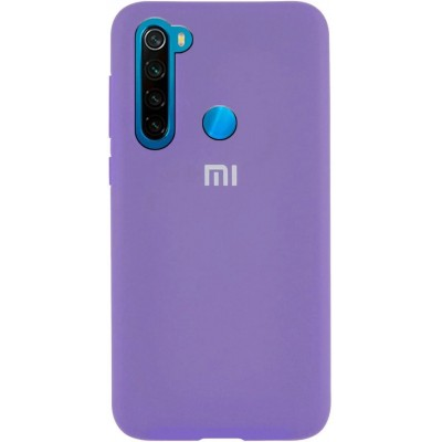 Накладка Silicone Cover для Xiaomi Redmi Note 8 Silky&Soft Touch Dasheen