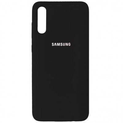 Накладка Silicone Cover для Samsung A505/A507/A307 Silky&Soft Touch Black