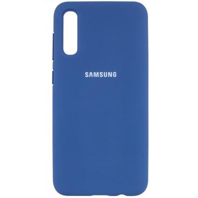 Накладка Silicone Cover для Samsung A505/A507/A307 Silky&Soft Touch Blue