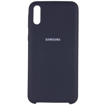 Накладка Silicone Cover для Samsung A505/A507/A307 Silky&Soft Touch Lavender Grey