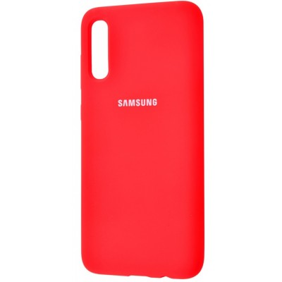 Накладка Silicone Cover для Samsung A505/A507/A307 Silky&Soft Touch Red