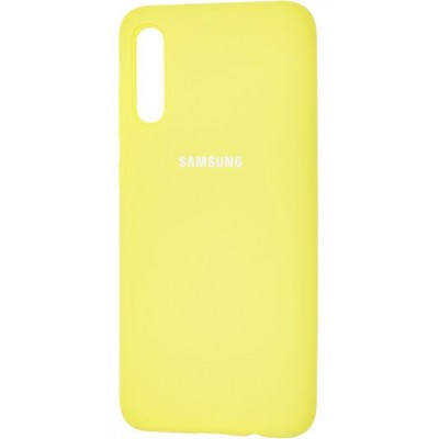Накладка Silicone Cover для Samsung A505/A507/A307 Silky&Soft Touch Yellow