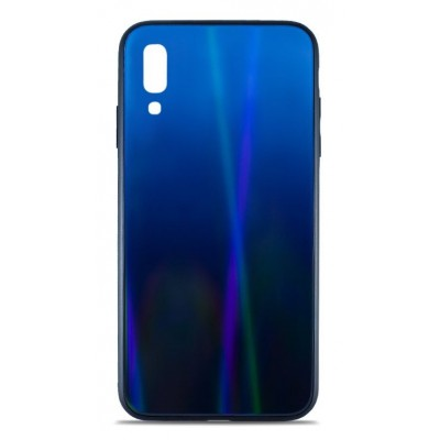 Накладка Glass Case Shine Gradient для Samsung A405 (A40 2019) Deep Blue