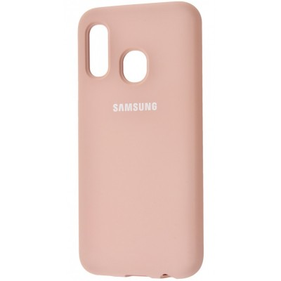 Накладка Silicone Cover для Samsung A405 (A40 2019) Silky&Soft Touch Pink Sand
