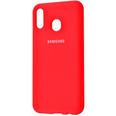 Накладка Silicone Cover для Samsung A405 (A40 2019) Silky&Soft Touch Red