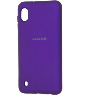 Накладка Silicon Cover для Samsung A105 (A10 2019) Silky&Soft Touch Purple