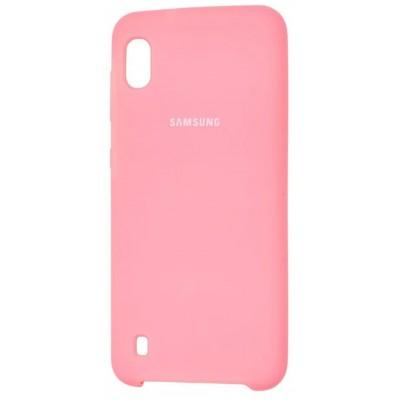 Накладка Silicon Cover для Samsung A105 (A10 2019) Soft Mate Pink