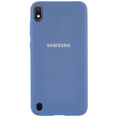Накладка Silicone Cover для Samsung A105 (A10 2019) Silky&Soft Touch Blue
