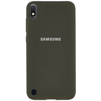 Накладка Silicone Cover для Samsung A105 (A10 2019) Silky&Soft Touch Dark Olive