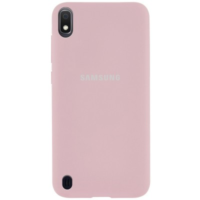 Накладка Silicone Cover для Samsung A105 (A10 2019) Silky&Soft Touch Pink Sand