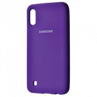Накладка Silicone Cover для Samsung A105 (A10 2019) Silky&Soft Touch Purple