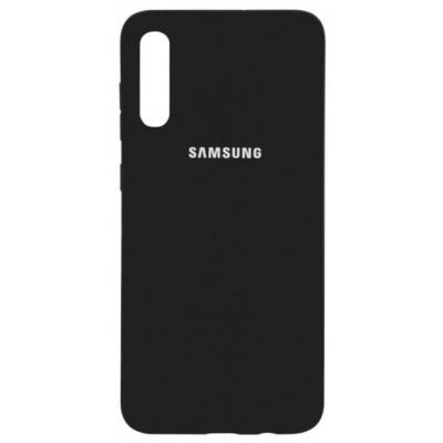 Накладка Silicone Cover для Samsung A705 (A70 2019) Silky&Soft Touch Black