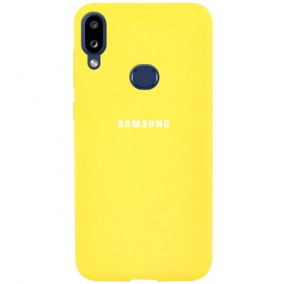 Накладка Silicone Cover для Samsung A107 (A10s 2019) Silky&Soft Touch Yellow