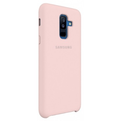 Чохол Silicon Cover Samsung A730 (A8 Plus 2018) Silky&Soft Touch Pink