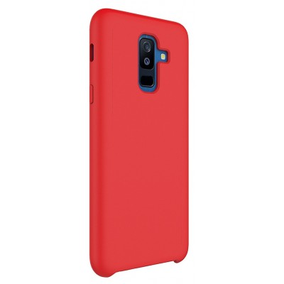 Чохол Silicon Cover Samsung A730 (A8 Plus 2018) Silky&Soft Touch Red