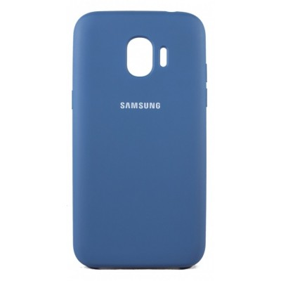 Чохол Silicon Cover  Samsung J250 (J2 Pro 2018) Silky&Soft Touch Blue